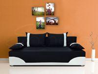 Rozkładana wersalka DARIO tapczan z poduszkami do spania + pojemnik
