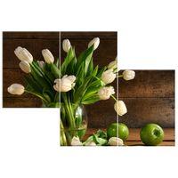 OBRAZ DRUKOWANY  Kremowe tulipany 90x60