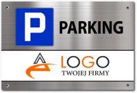 Tabliczka PARKING parkingowa LOGO TEKST 20x30