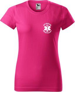 Damska koszulka medyczna nadruk Opiekun Medyczny rozmiar 42 XL