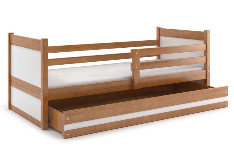 Łóżko RICO dla dzieci pojedyncze dla jednej osoby 190x80 + MATERAC zdjęcie 1