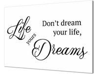 Obraz z napisem LIfe yours dreams 60x40cm