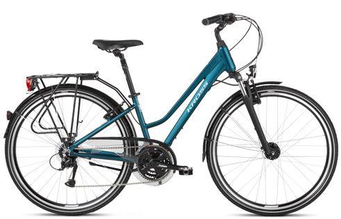"""Kross Trans 4.0 28 S 15"""" rower turkusowy/biały mat 12"""