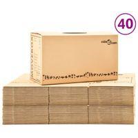 Kartony Do Przeprowadzki, Xxl, 40 Szt., 60X33X34 Cm