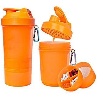 Muscle Shake Shaker Neon 400ml + 120ml + 180ml Kolor - Zielony