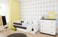 Łóżko KAMIL 180 x 80 szuflada i barierka zabezpieczająca + MATERAC