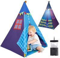 Namiot Dla Dzieci Trójkątny Indiański Lampka Tipi U274