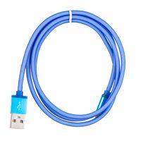 Kabel iPhone LIGHTNING stalowy oplot Niebieski