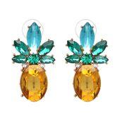 ANANASKI kolczyki pineapple PRZY UCHU kryształowe 3-0129
