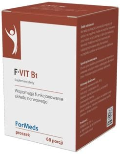F-Vit B1 Witamina B1 Tiamina 50mg 60 porcji 48g ForMeds