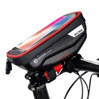 Etui/uchwyt rowerowy WILDMAN S E1R sakwa na ramę czarno-czerwony/black-red