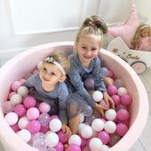 Jasno-różowy suchy basen 40cm z kulkami LIGHTPINK+ 200 piłek do wyboru