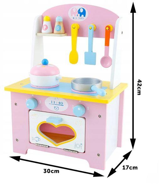 Kuchnia Drewniana Dla Dzieci Garnki Akcesoria Owoce Magnetyczne U46U zdjęcie 5