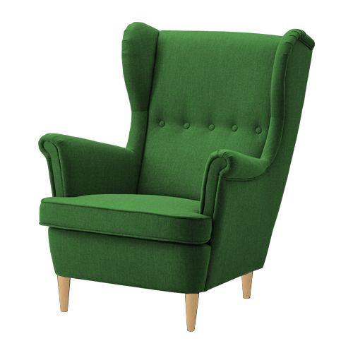 Fotel KING IKEA uszak tapicerowany zielony HIT zdjęcie 1