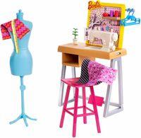 Barbie zestaw mebelków pracownia krawiecka