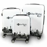 ZESTAW WALIZEK BERWIN FLY THE WORLD WHITE 3 SZT XL L M