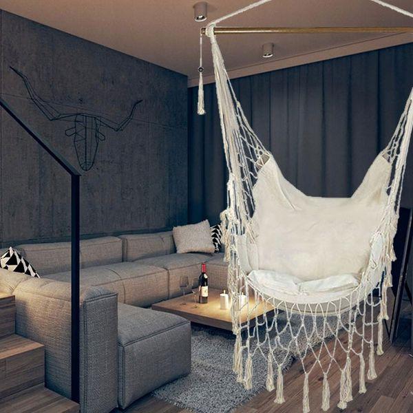 Krzesło brazylijskie ARUBA XXL z poduszką hamak Bluegarden
