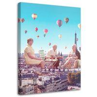 Obraz na płótnie – Canvas, Balony nad Paryżem 40x60