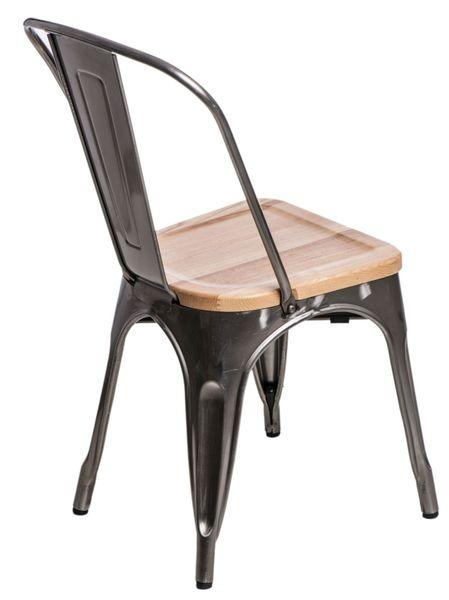 Krzesło Paris Wood metali. sosna natural D2 zdjęcie 1