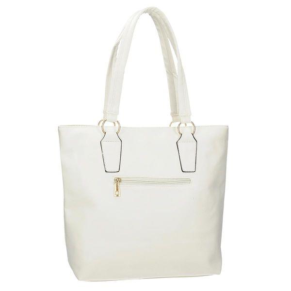 9de16ffafa70e Biała torebka damska na ramię z logo Danblini shopper na ramię zdjęcie 3