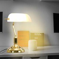 Lampa Bankierska, 40 W, Biało-Złota