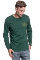 LEE OUTLINE LOGO LS DK BOTTLE GREEN L60GFEBB XL