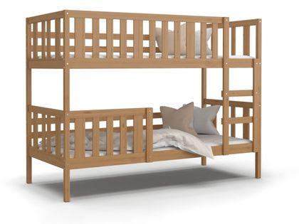 Łóżko piętrowe NEMO olcha + materace