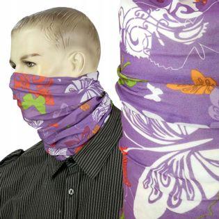 Maska bandana chusta na twarz nos usta głowę