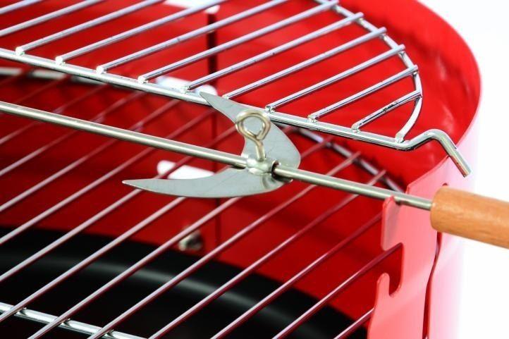 Grill ogrdowy z rusztem, grill na kółkach, BBQ zdjęcie 3