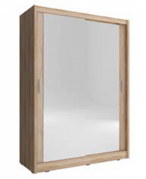 Szafa garderoba przesuwna MAJA 150 cm podwójne lustro zdjęcie 1