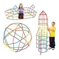 Klocki Słomki Konstrukcyjne 1000 Elementów Dzieci