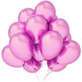 Balony lateksowe różowe metaliczne 12 sztuk