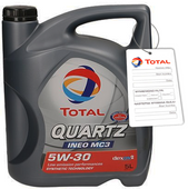 TOTAL QUARTZ INEO MC3 5W30 5L VW 505.01 BMW LL-04