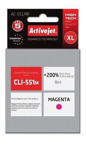 Tusz Activejet AC-551MR (zamiennik Canon CLI-551M; Premium; 8 ml; czerwony) na Arena.pl