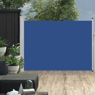 VidaXL Wysuwana markiza boczna na taras, 120 x 500 cm, niebieska