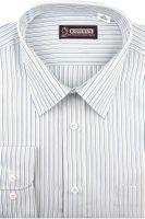 Koszula Męska Konsul biała w paski na długi rękaw w kroju REGULAR A200 L 40 170/176