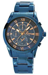 Zegarek Męski Gino Rossi Niebieski Klasyczny Bransoleta
