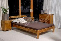 Łóżko z drewna SARA 160x200 kolory olcha/dąb/orzech + stelaż SYPIALNIA