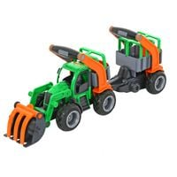 Wader Traktor Z Przyczepą I Łyżką