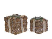 Zestaw 2 dekoracji pudełka na prezent