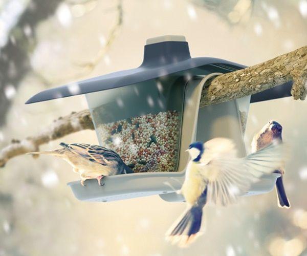 Karmnik dla ptaków BIRDYFEED DOUBLE szary kamienny zdjęcie 2