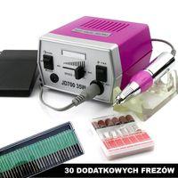 Frezarka do manicure JD700 moc 35W z 42 frezami - ciemnoróżowa