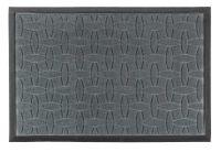 Wycieraczka podgumowana gumowa PCV poliester prostokątna HARRY 60 x 40 cm wzór nr 3 szara wypukłe wzorki