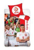 Pościel dziecięca 160x200 Reprezentacja Polski Piłka Nożna Lewandowski