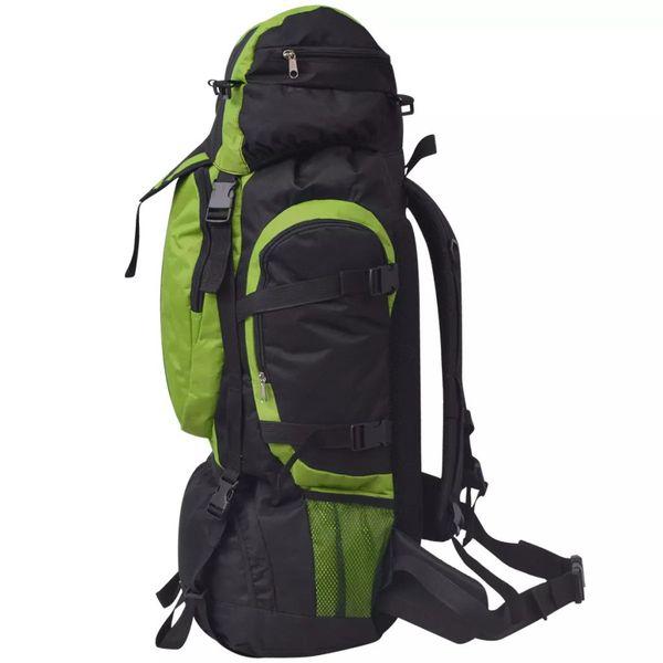 Plecak turystyczny XXL 75 L, czarno-zielony na Arena.pl