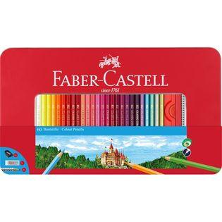 Kredki ołówkowe FABER-CASTELL Eco 60 kolorów METAL
