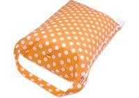 Worek BOBO do przedszkola na pościel śpiworek - pomarańczowy w grochy