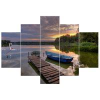 ZEGAR  Zachód słońca nad Jeziorem Wolsztyńskim 150x105