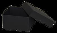 Opakowanie 120x120x70mm - czarne, karton ozdobny