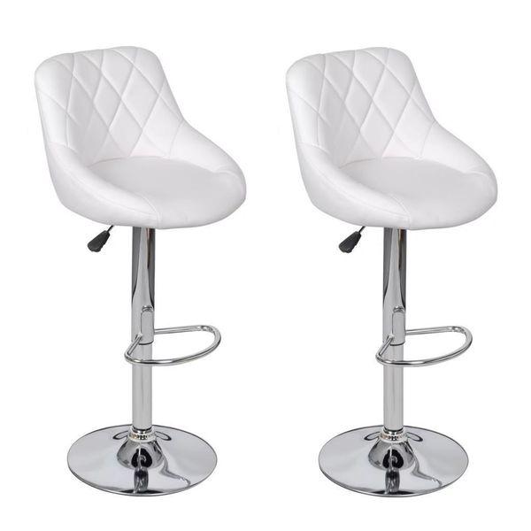 Hoker Hokery Krzesła Barowe 2 Sztuki Białe Do Kuchni Jadalni